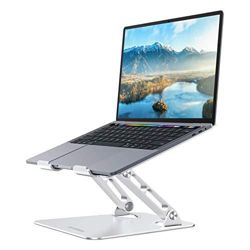AKSEA Support Ordinateur Portable, Ergonomique en Réglable Laptop Stand pour Tous Les Support PC Portables 10'-17', Compatible avec MacBook Air Pro,Dell,HP,Samsung,Lenovo (Argent 1)