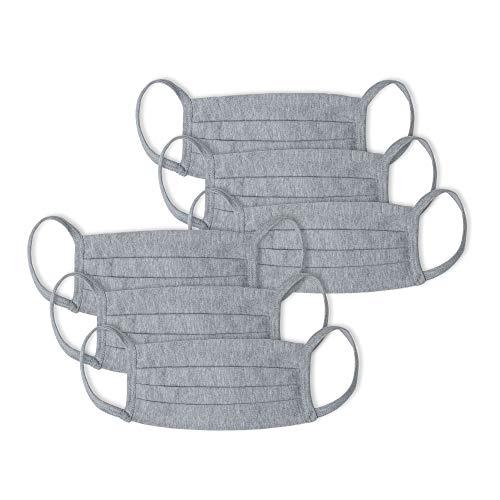 Kit 6 peças Máscaras de Proteção em Algodão, Mash, Cinza Claro, Unico