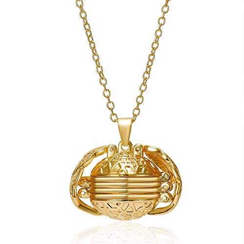 WFQGZ Necklace Creative Multi-Layer Photo Memory Floating Locket Angel Wing Necklace and Pendant Fashion Family Album Box Necklace DIY Jewelry-2