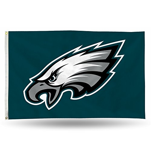 NFL Rico Industries 3-Foot by 5-Foot Single Sided Banner Flag with Grommets, Philadelphia Eagles