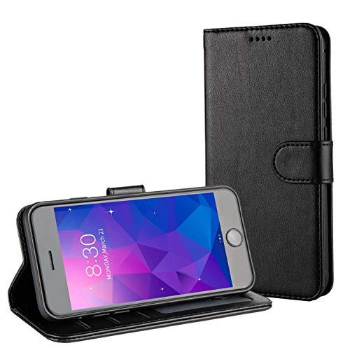 TAMOWA Cover per iPhone 6S/ iPhone 6, Portafoglio Flip Case Custodia per iPhone 6S/ iPhone 6 [Slot Porta Carte] [Supporto Stand] [Chiusura Magnetica] - Nero
