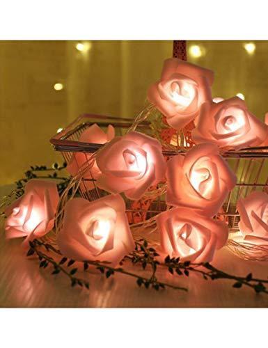 JKDKK Lichterketten Led Garland Bouquet Light String Schaum Rose Fairy Light Valentinstag Hochzeitsdekoration, Teig-4.5M-2
