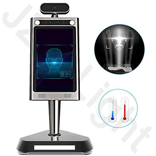 GODLV - Detector de temperatura corporal para reconocimiento de rostro, cámara térmica con alarma de voz para entrada de la empresa