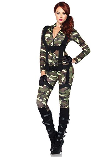 shoperama Damen-Kostüm Leg Avenue - Fallschirmjägerin lang, Größe:M