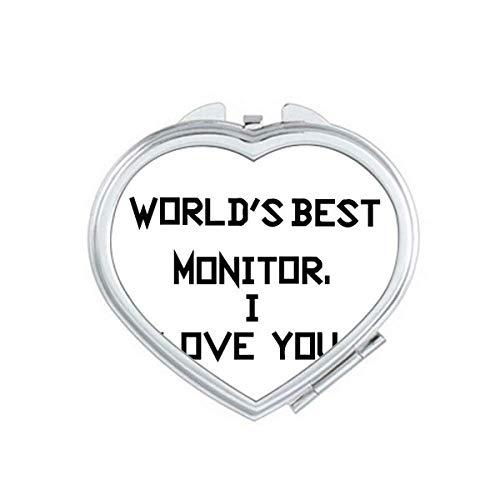 World best Monitor I Love You Mirror Travel Magnification Portable Handheld Pocket Makeup