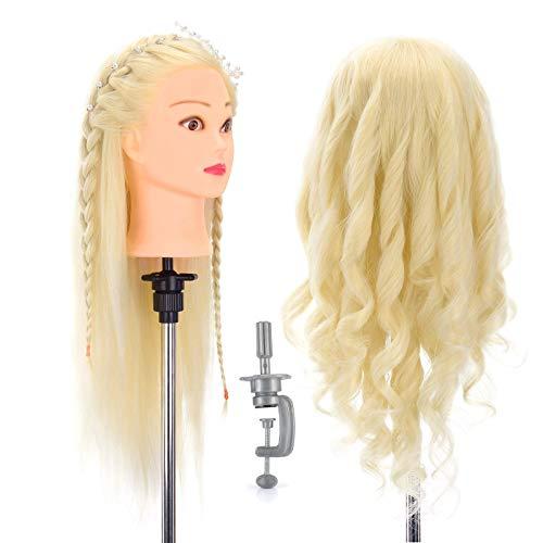Neverland 70% Vrais Cheveux Humains Long coiffure Artificiel Têtes d'exercice Coiffure Mannequin #613