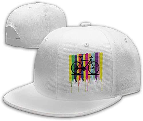 NJAAN Men's Women Hip Hop Trucker Hat Cool Rainbow Bicycle Adjustable Dad Cap Unisex,White,One Size