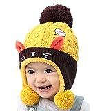 FEOYA - Gorro de Lana para bebé o niña, para Invierno o niña, con Gancho...