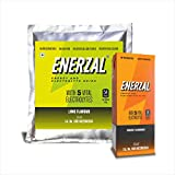 Enerzal Energy Drink Powder 1 KG Lime Flavour with 200ml Orange Flavor Tetra Pack Energy Drink