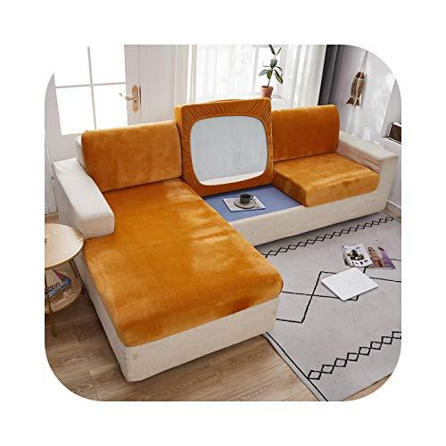 Sofabezug, Velours, für Wohnzimmer, elastisches Kissen, Slipcover, Liegestuhl, orange-Norma, S-1 Stück