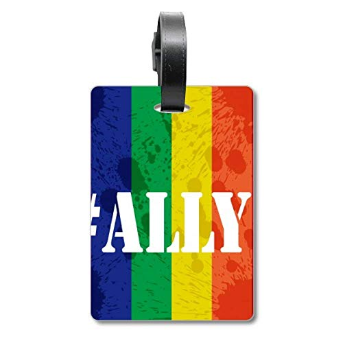 Ally LGBT Rainbow Pattern Cruise Suitcase Bag Tag Tourister Identification Label