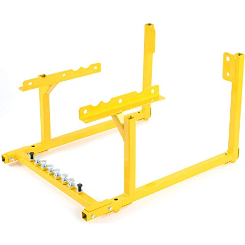 JEGS Engine Cradle for Oldsmobile V-8 Engines | All-Steel Construction | Powdercoated Yellow | 1000 LBS Capacity | Hardware Included | Easy Assembly