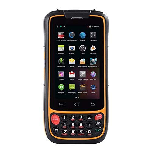 Android 7.0 resistente terminal móvil de mano con 2D Honeywell Lector láser, pantalla táctil 4.0in, cámara, inalámbrica 4G WiFi GPS BT NFC para la gestión de inventario al por menor