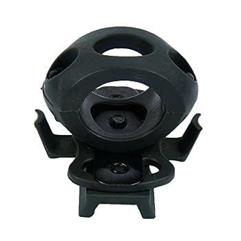 Pince à lampe pour casque tactique, compatible avec les casques à rail latéral, vert militaire