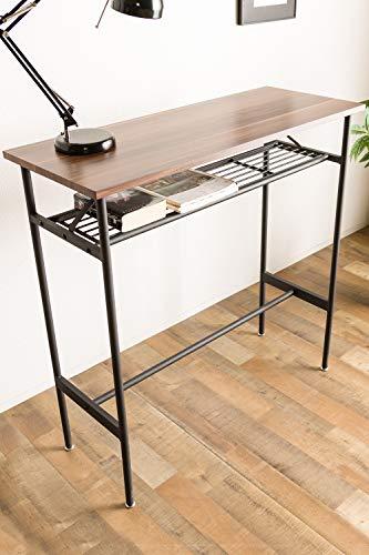 システムKカウンターテーブル木目調幅110cm長方形収納棚中板付きアジャスター付き