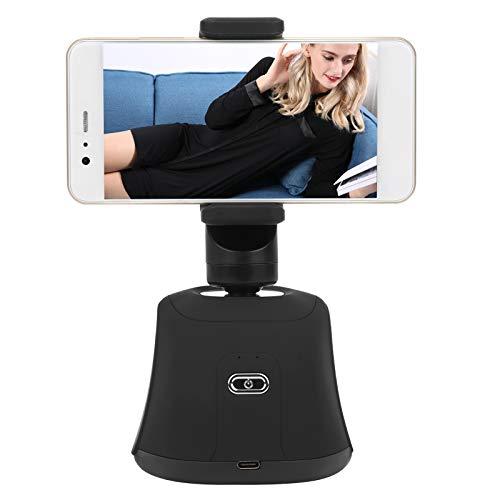 Soporte para teléfono Celular con Seguimiento Facial, teléfono Inteligente de 360 Grados Reconocimiento Facial con Seguimiento automático Soporte de Disparo Antivibración Teléfono de Escritorio