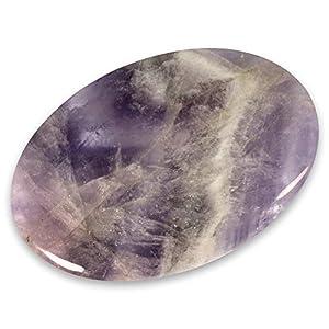 CrystalAge Amethyst Chevron Palm Stone