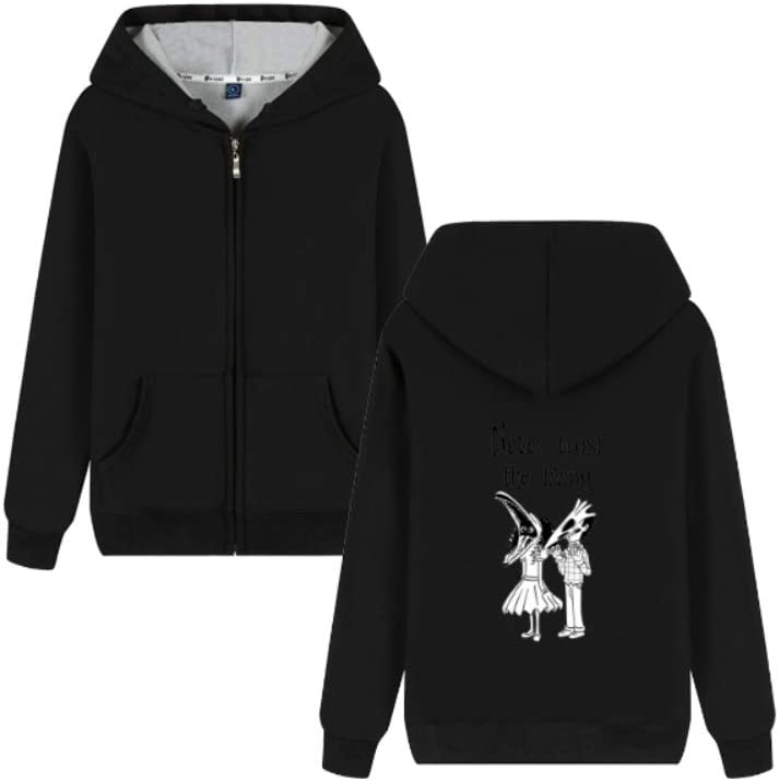 MOHKJMML Outerwear Beetlejuice Never Trust The Living Long Sleeve Pullover Men (Color : C02, Size : Small)