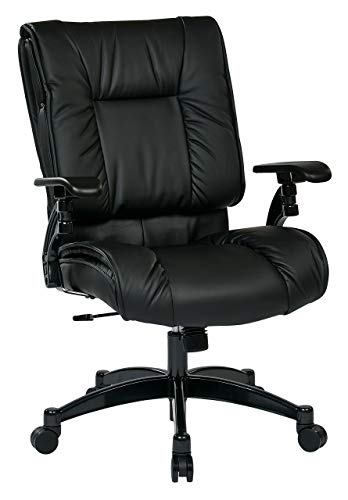 SPACE Seating Black Eco Leather Conference Chair with Cantilever Arms and Gunmetal Finish Base Eco Leather Conference Chair