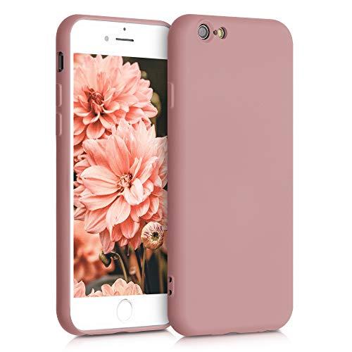 kwmobile Cover Compatibile con Apple iPhone 6 / 6S - Custodia in Silicone Effetto Gommato - Back Case Protezione Cellulare - Rosato