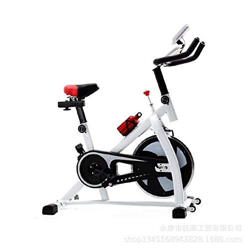 Los Deportes directos Nuevo Ultra silencioso Bicicleta estática en Interiores Bicicleta de Spinning Fitness en casa Equipos de fábrica (Color : White)