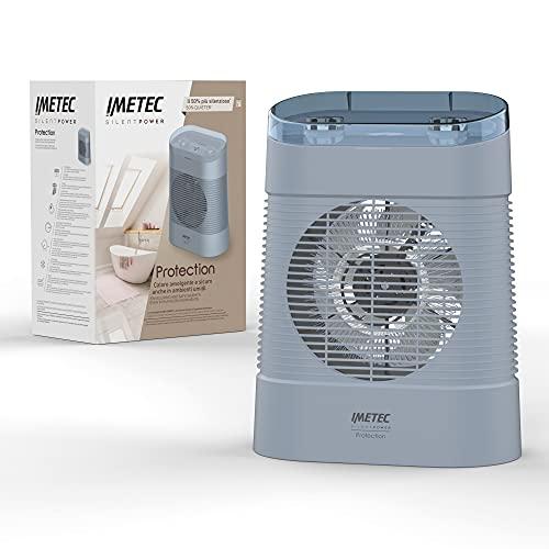 Imetec Silent Power Protection, Termoventilatore silenzioso, 2100 W, Stufetta Elettrica, Timer spegnimento...