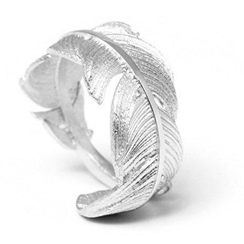 Helen de Lete Innovative Feather From Heaven Sterling Silver Open Ring