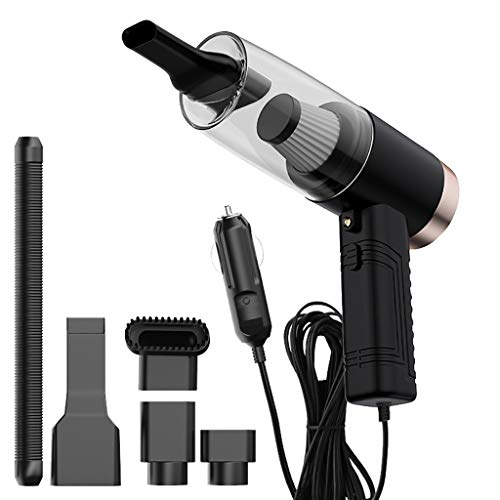 Portable Dry & Wet Dual-Use Car High Power Vacuum Cleaner with Aromatherapy Lamp,Lightweight Strong Suction Car Interior Cleaning Accessories Kit,Vehicle Crumbs Collector,Dust Remover (Black)