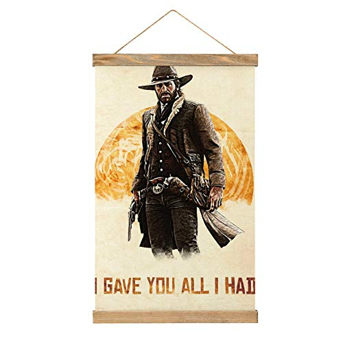 WPQL Arthur Morgan Red Dead Redemption Redemption Redemption 2 - Póster de arte moderno para sala de banquetes