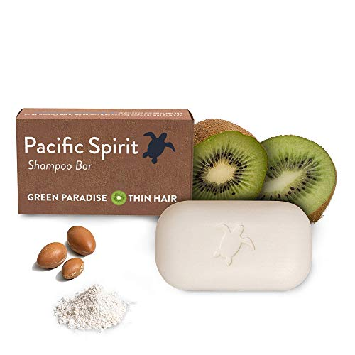 Shampoo Bar for Thin to Normal hair with Argan Oil & Fresh Kiwi for. Gentle Foam. Natural Citrus Scent. Sulfate-Free, Vegan, Soap-Free, Zero Waste by Pacific Spirit - 3.53 Oz.