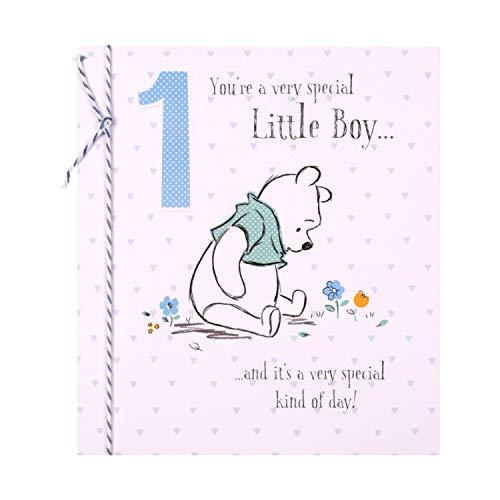 Hallmark Geburtstagskarte zum 1. Geburtstag, für kleine Jungen mit Winnie-The-Pooh-Motiv