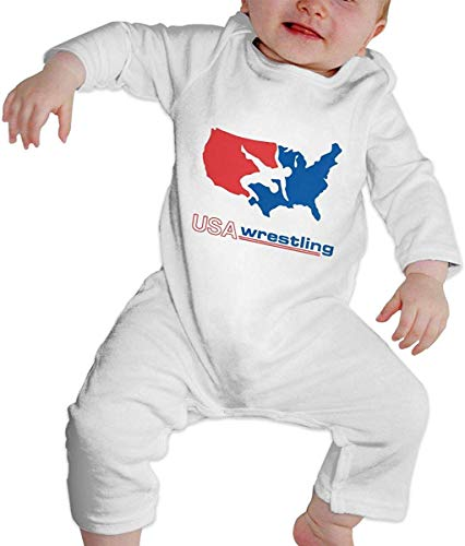 National Wrestling – Baby Footie Strampler Langarm Body Overall Outfits Gr. 0-6 Monate, mehrfarbig