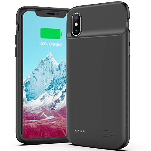 OMEETIE Battery Case for iPhone X/Xs/10, 4100mAh Ultra Slim Portable Protective Charging Case, Rechargeable Extended Battery Pack Charger Case Compatible with iPhone X/Xs
