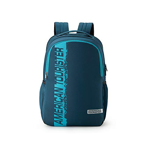 American Tourister Spin 49 cms Teal Laptop Backpack (FS0 (0) 11 001)
