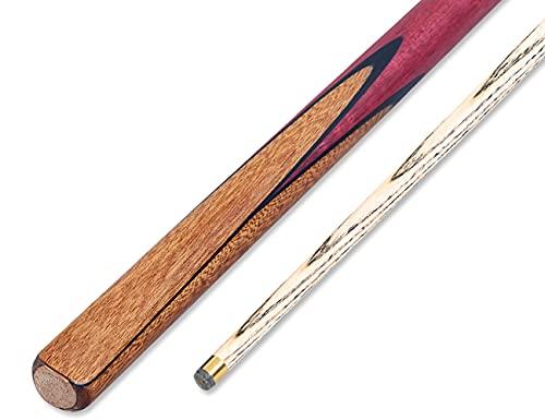 57in 18OZ 10mm Spitzen 3/4 Eschenholz Pool Billard Queue,Britisches Pool Cue Stick mit Spitzen und Stücke Kreide,Hardcase Optional/A / 145cm