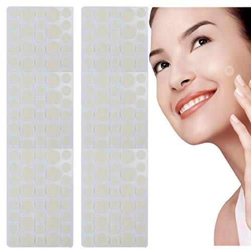 Akne-Patches,Acne Akne Pimple Patch,216 PCS Unsichtbare Hydrokolloide Absorbierendes Akne Pflaster,Anti Pickel Patches Gegen Akne Pads Aufkleber für Gesicht Akne Behandlung Aknepflege