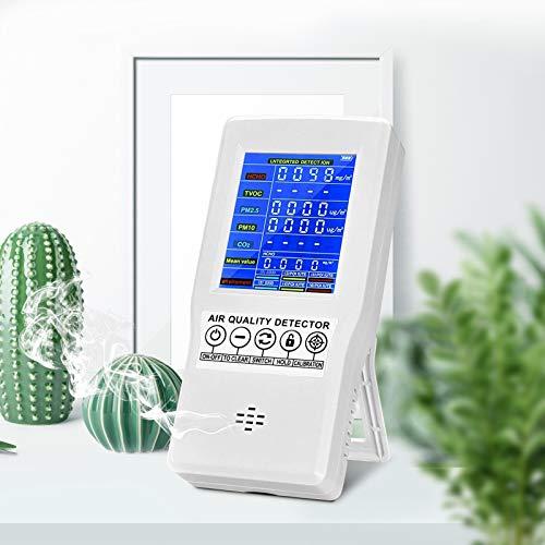 KKTECT Monitor de calidad del aire 8 en 1 PM2.5 PM10 PM1.0 HCHO TVOC AQI Medidor de polvo ultrafino con sensor de precisión para la detección de la contaminación del aire en el interior del hogar