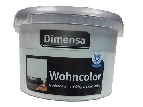 Dimensa Wohncolor Wandfarbe Moderne Innen- Dipersionsfarbe Matt Farbwahl 2,5 Liter, Farbe:Ice