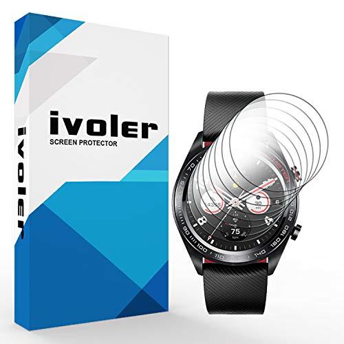 VGUARD [8 Stück] Schutzfolie Bildschirmschutzfolie für Huawei Honor Watch Magic, 3D Vollständige Abdeckung [Wet Applied] [Anti-Kratz] [Blasenfrei] HD TPU Weich Folie