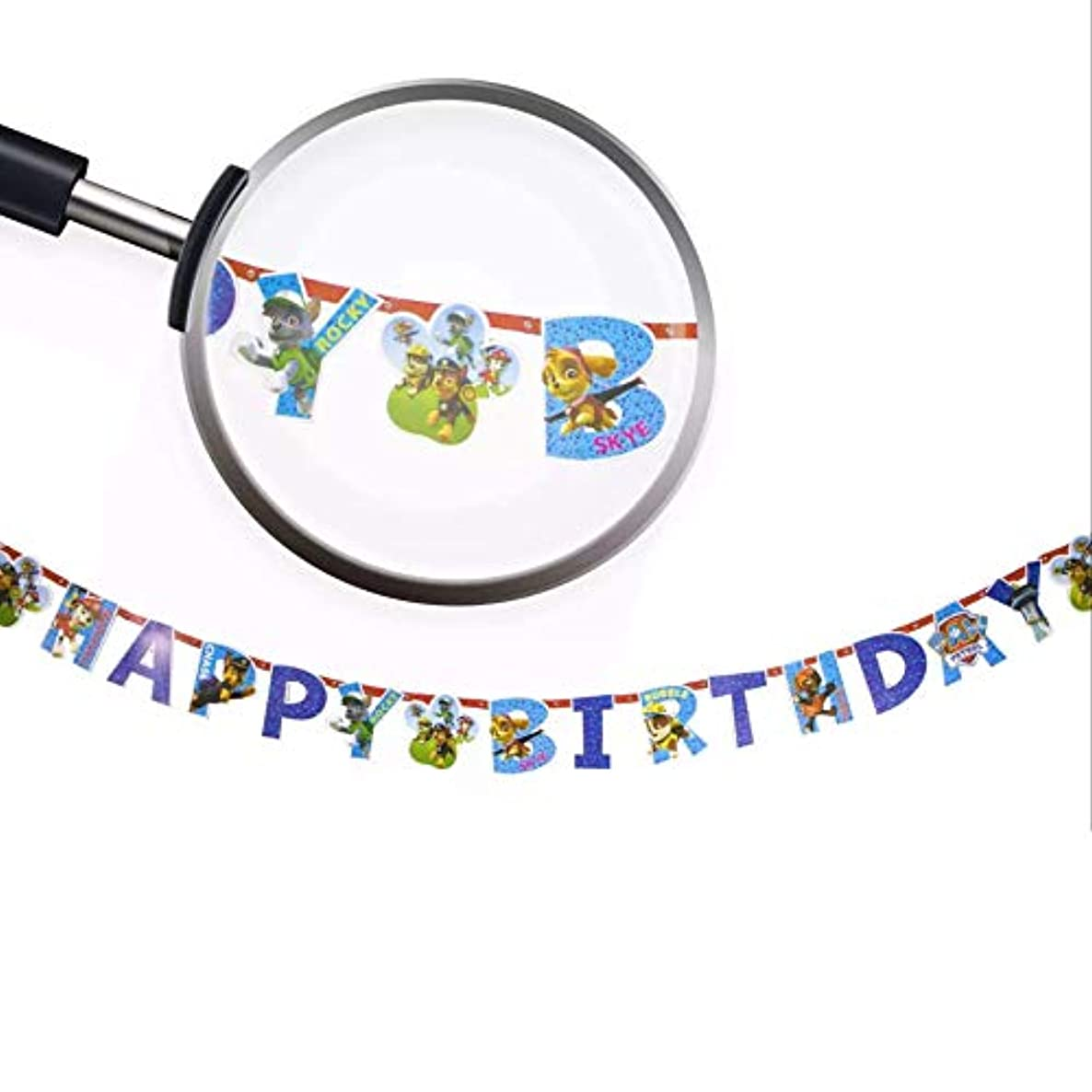 Astra Gourmet Dog Patrol Happy Birthday Party Banner Bunting Banner Party Supplies