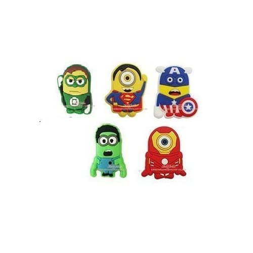6fadd2fd9432 Amazon.com  CharmTM Superhero Set of 5 PVC Shoe Charms (Generic) for Crocs  Natives Minions Party Favors by  Toys   Games