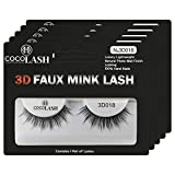 Cocohoney 3D Faux False Mink Eyelashes (5 pairs) - DAILY LOOK | 100% Hand Made | Cruelty Free | Reusable | Ultralight | Durable | Comfortable to Wear | Easy Application (3D018)