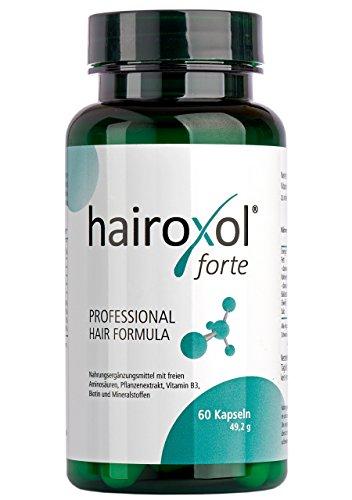 Hairoxol Vitamine für Haare von Frauen + Männer | Nahrungsergänzungsmittel mit freien Aminosäuren, Pflanzenextrakt, Vitamin B3, Biotin, Zink, Mineralstoffe | made in Germany (60 Kapseln)