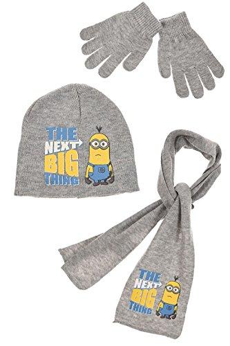 Disney - Set de bufanda, gorro y guantes - para niño Gris gris 52