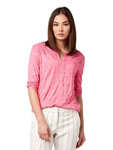 TOM TAILOR Damen 1009651 T-Shirt, Rosa (Carmine Pink 15799), Medium (Herstellergröße: M)