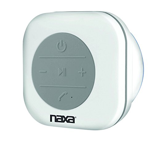 NAXA Electronics NAS-3078 Waterproof Bluetooth Shower Speaker