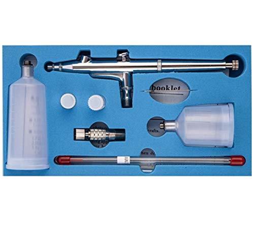 CYBERNOVA ダブルアクションで噴射を調整するエアブラシ ダブルアクショントリガーセット 0.3mm エアブラシペンキ塗りアート ボディーペイント エアブラシ ネイルメイク用 エアーブラシキット