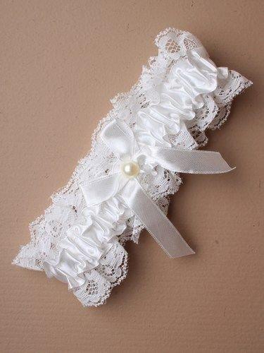 My Pretty Little Gifts Elfenbensstrumpeband – enkelt – bröllop tjänst brud att vara möhippa fest natt tillbehör