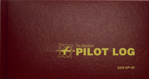 Portable, The Standard Pilot Log (Burgundy): ASA-SP-40 (Standard Pilot Logbooks) Consumer Electronic Gadget Shop