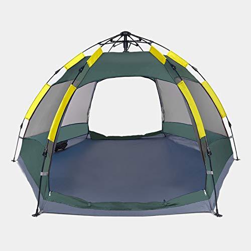 Zhouzl Prodotti da Campeggio Hewolf 1697 Outdoor Camping Tenda a Prova di Pioggia Automatica Esagonale, Versione aggiornata (Blu) Prodotti da Campeggio (Colore : Mint Blue)